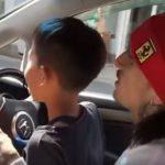 子供に車を運転させた動画がネットで話題になり逮捕へ