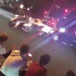 暴走族がパトカーに追突されている動画が賛否両論